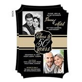 Cheers To Then & Now Personalized Anniversary Party Invitations - 16899