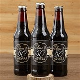 Cheers To Then & Now Personalized Beer Bottle Labels - 16901