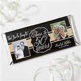Cheers To Then & Now Personalized Candy Bar Wrappers - 16904