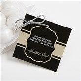 Cheers To Then & Now Personalized Anniversary Party Gift Tags - 16907