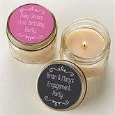 Write Your Own Personalized Mason Jar Candle Favors - 16910