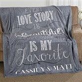 Love Story Personalized 60x80 Fleece Blanket - 16911-L