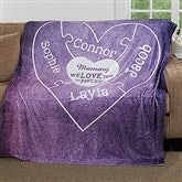 We Love You To Pieces Personalized 60x80 Fleece Blanket - 16912-L