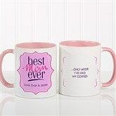 Best. Mom. Ever. Personalized Coffee Mug 11oz.- Pink - 16916-P