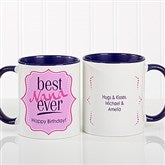 Best. Mom. Ever. Personalized Coffee Mug 11oz.- Blue - 16916-BL