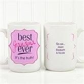 Best. Mom. Ever. Personalized Coffee Mug 15oz.- White - 16916-L