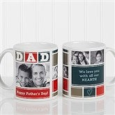 DAD Photo Collage Personalized Coffee Mug 11 oz.- White - 16920-W