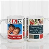 DAD Photo Collage Personalized Coffee Mug 15 oz.- White - 16920-L