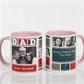 DAD Photo Collage Personalized Coffee Mug 11oz.- Pink - 16920-P