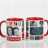 DAD Photo Collage Personalized Coffee Mug 11oz.- Red - 16920-R
