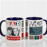 DAD Photo Collage Personalized Coffee Mug 11oz.- Blue - 16920-BL