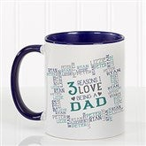 Reasons Why For Him Personalized Coffee Mug 11oz.- Blue - 16921-BL