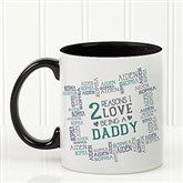 Reasons Why For Him Personalized Coffee Mug 11oz.- Black - 16921-B