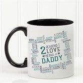 Reasons Why For Him Personalized Coffee Mug 11oz.- Black - 16921-B
