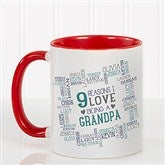 Reasons Why For Him Personalized Coffee Mug 11oz.- Red - 16921-R