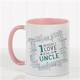 Reasons Why For Him Personalized Coffee Mug 11oz.- Pink - 16921-P