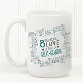 Reasons Why For Him Personalized Coffee Mug 15 oz.- White - 16921-L
