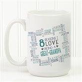 Reasons Why For Him Personalized Coffee Mug 15 oz.- White - 16921-L