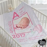 Precious Moments® Baby Girl Personalized Fleece Photo Blanket - 16925