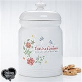 Precious Moments® Floral Personalized Cookie Jar - 16928