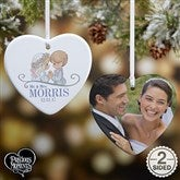 2-Sided Precious Moments® Wedding Personalized Heart Ornament - 16937-2