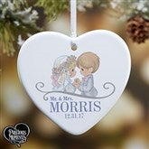 1-Sided Precious Moments® Wedding Personalized Heart Ornament - 16937-1