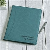 Signature Series Personalized Full Pad Portfolio-Teal - 16939-T