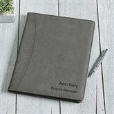 Signature Series Personalized Full Pad Portfolio-Charcoal - 16939-C