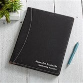 Signature Series Personalized Full Pad Portfolio-Black - 16939-B