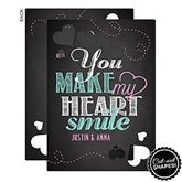 You Make My Heart Smile Personalized Cutout Greeting Card - 16942