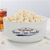 Game Time Personalized Large Snack Bowl