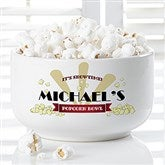 Movie Night Personalized Snack Bowl- Small - 16965-S