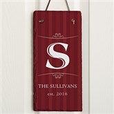 Elegant Monogram Personalized Vertical Slate Plaque - 16966