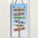 Personalized Journey Marker Vertical Slate Plaque - 16967