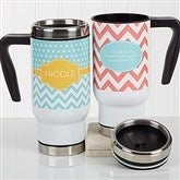 Preppy Chic Personalized Commuter Travel Mug - 16970