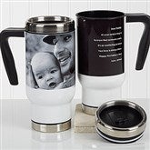 Photo Sentiments For Him Personalized Commuter Travel Mug - 16973