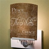 Peaceful Welcome Personalized Night Light - 16979
