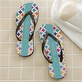 Geometric Personalized Adult Flip Flops - 16998