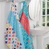 Geometric Personalized Bath Towel - 16999