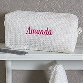 Embroidered White Make-up Bag- Name - 17001-B