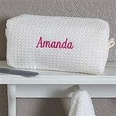 Embroidered White Make-up Bag- Name - 17001-B