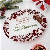 Christmas Blessings Personalized Glass Platter - 17003