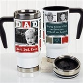 Dad Photo Collage Personalized Commuter Travel Mug - 17011