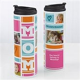 MOM Photo Collage Personalized 16oz. Travel Tumbler - 17013