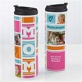 MOM Photo Collage Personalized 16oz. Travel Tumbler - 17013