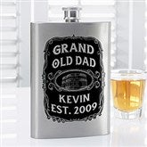 Grand Old Dad Personalized Flask - 17014