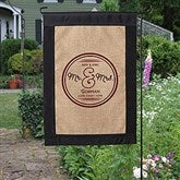 Circle Of Love Personalized Burlap Garden Flag - 17017