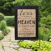 Heaven In Our Home Personalized Burlap Garden Flag - 17018