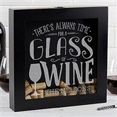 There's Always Time For Wine Personalized Wine Cork Shadow Box - 17022
