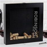 Wine Bar Personalized Wine Cork Shadow Box - 17023